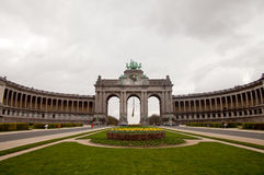 Triumphal arch in Brussels Stock Photo