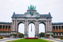 Triumphal Arch in Brussels. In the morning Royalty Free Stock Images