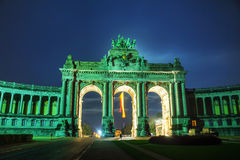 Triumphal Arch in Brussels Stock Images