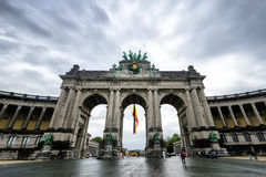 The Triumphal Arch in Brussels Stock Image