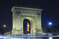 Triumphal arch in Bucharest Stock Image