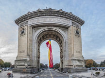 Triumphal Arch In Bucharest Royalty Free Stock Photos
