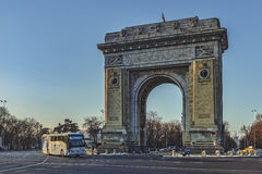 Triumphal Arch Bucharest, Romania Royalty Free Stock Photo