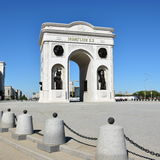 Triumphal arch called MAENGILIK EL in Astana / Kaz Stock Photos