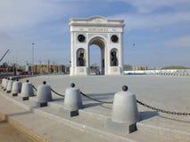 Triumphal arch called MAENGILIK EL in Astana / Kaz Royalty Free Stock Photography