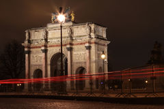 Triumphal arch of the carrousel, Paris Royalty Free Stock Images