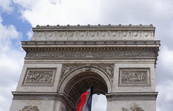 Triumphal arch on the Champs Elysees. Paris; France- May 01; 2017: Triumphal arch on the Champs Elysees royalty free stock photos