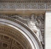 Triumphal arch on the Champs Elysees. Paris; France- May 01; 2017: Triumphal arch on the Champs Elysees stock photos