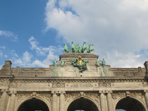 Triumphal Arch of the Cinquantenaire in Brussels Stock Photography