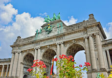 Triumphal Arch in Cinquantenaire Parc in Brussels, Belgium Royalty Free Stock Photo