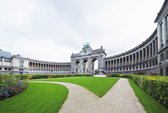 Triumphal Arch in Cinquantennaire Parc in Brussels Royalty Free Stock Photo