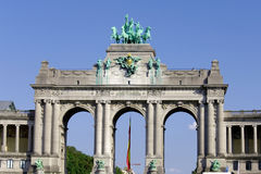 Triumphal Arch in Cinquantennaire Park Stock Image