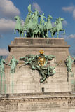 Triumphal Arch in Cinquantennaire Park in Brussels Stock Photography