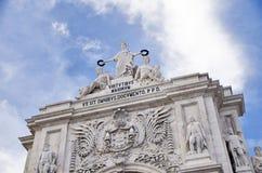 Triumphal Arch, Commerce Square, Lisbon, Portugal, europe Stock Images