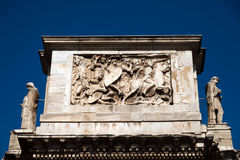 Triumphal Arch of Constantine. Dedicated in AD 315 to celebrate Constantine's victory three years before over his co-emperor, Maxentius Royalty Free Stock Images