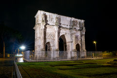 Triumphal Arch of Constantine in Rome Stock Photo