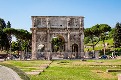 The triumphal arch of Constantine in Rome Royalty Free Stock Image