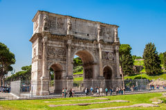 The triumphal arch of Constantine in Rome Royalty Free Stock Photo
