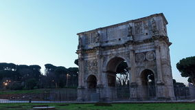 Triumphal Arch of Constantine. Rome, Italy. Time stock video footage