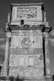 Triumphal Arch of Constantine in Rome, Italy. Triumphal Arch of Constantine in Rome Royalty Free Stock Photo