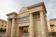Triumphal arch in Cordoba stock photos