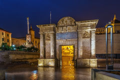 Triumphal arch in Cordoba, Spain Stock Photography