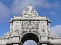 Triumphal Arch da Rua Augusta , Lisbon Royalty Free Stock Photos