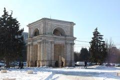 Triumphal arch at day, Kishinev Chisinau Moldova Stock Image