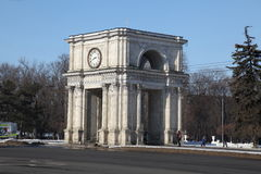 Triumphal arch at day, Kishinev Chisinau Moldova Royalty Free Stock Photos