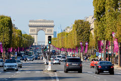 The Triumphal Arch de l Etoile Stock Images
