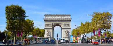 Triumphal Arch de l Etoile. PARIS, FRANCE OCTOBER 19: Triumphal Arch de l Etoile arc de triomphe . The monument was designed by Jean Chalgrin in 1806 in Paris stock images