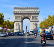 Triumphal Arch de l Etoile. PARIS, FRANCE OCTOBER 19: Triumphal Arch de l Etoile arc de triomphe . The monument was designed by Jean Chalgrin in 1806 in Paris royalty free stock photos