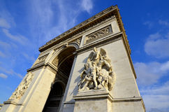 Triumphal Arch de l Etoile. PARIS, FRANCE OCTOBER 12: Details of Triumphal Arch de l Etoile ( arc de triomphe) . The monument was designed by Jean Chalgrin in stock images