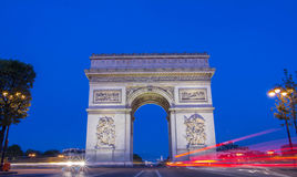 The Triumphal Arch in the early morning, Paris. Royalty Free Stock Image