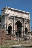 Triumphal arch of the Emperor Septimius Severus Stock Photos
