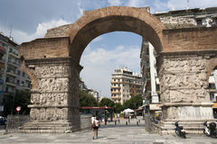 Triumphal arch of Galerius - Thessaloniki Royalty Free Stock Photo