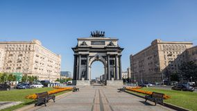 Triumphal Arch gate of Moscow Stock Image