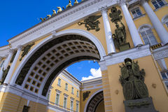 Triumphal Arch of the General Staff, Saint-Petersburg, Russia Stock Images