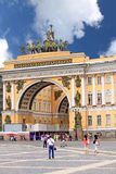 Triumphal Arch of the General Staff in St. Petersburg, Russia Royalty Free Stock Photography