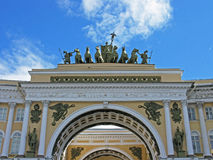 Triumphal arch of the General staff, St. Petersburg. Triumphal arch of the General staff. Landmark. Tourist attraction. Historic building. Historic monument Royalty Free Stock Photo