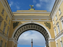 Triumphal arch of the General staff, St. Petersburg. Triumphal arch of the General staff. Saint Petersburg. Russia. Landmark. Tourist attraction. Historic Stock Photos