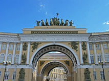 Triumphal arch of the General staff. Saint Petersburg, Russia. Tourism in Saint Petersburg. Landmark. Tourist attraction. Historic building. Historic monument Royalty Free Stock Image