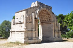 Triumphal arch of Glanum Stock Photo