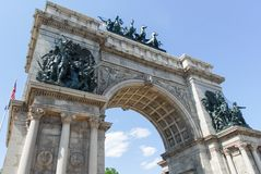 Grand Army Plaza - Brooklyn, New York. Triumphal Arch at the Grand Army Plaza in Brooklyn, New York City Royalty Free Stock Photography