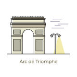 Triumphal arch illustration Royalty Free Stock Photo