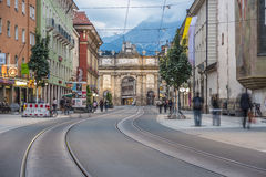 Triumphal Arch in Innsbruck, Austria. Royalty Free Stock Photos