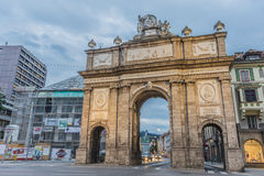 Triumphal Arch in Innsbruck, Austria. Stock Photo