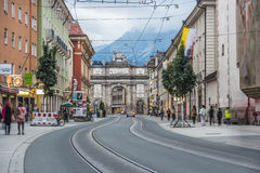 Triumphal Arch in Innsbruck, Austria. Royalty Free Stock Photo
