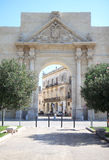 Triumphal Arch of the Italian town of Lecce, Salento Stock Photos