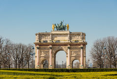 Triumphal arch in the Jardin des Tuileries Royalty Free Stock Photography